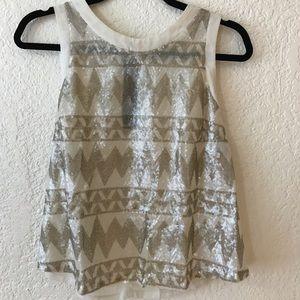 Sequin pattern beige top